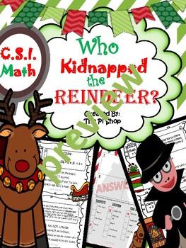 Entire Year {CSI Math Review} (9 month Bundle) NO PREP