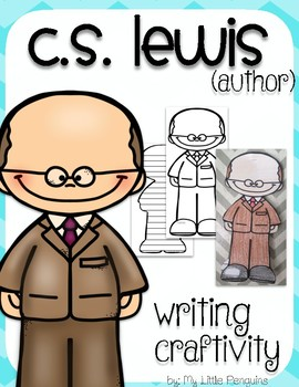 """C.S. Lewis """"Craftivity"""" Writing page-Author of The Lion,The Witch & The Wardrobe"""
