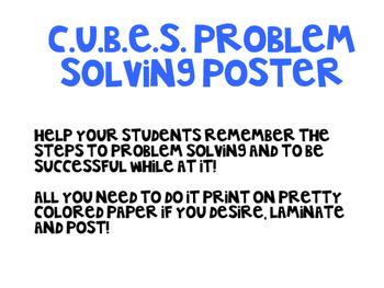 C.U.B.E.S. Problem Solving Poster