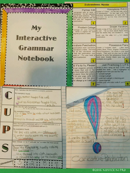 C.U.P.S. Interactive Grammar Notebook