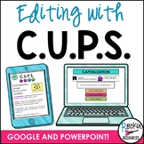 C.U.P.S. to Edit   Edit Writing   CUPS   Digital Learning