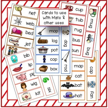C-V-C Short Vowel Word Building Center Activities - Valentine's Day Theme