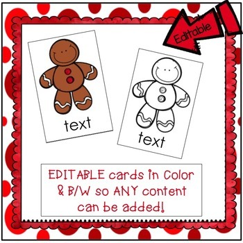 C-V-C Short Vowels Game - SWIPE  Gingerbread Man Theme {EDITABLE}