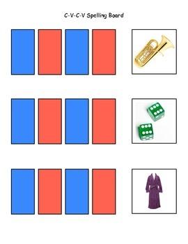 C-V-C-V Spelling Sorting Board 1