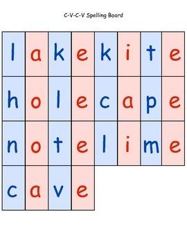 C-V-C-V Spelling Sorting Board 2