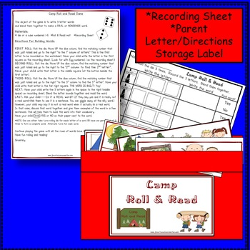 C-V-C Word Building Literacy Game - Camping Theme