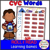 C-V-C Word Building Literacy Games - Camping Themed