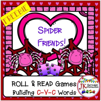 C-V-C Word Building Game FREEBIE – Spider Friends!