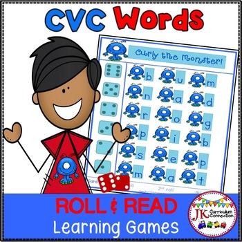 C-V-C Word Literacy Game – Monster Theme