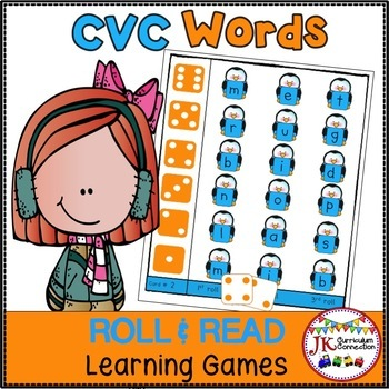 C-V-C Word Literacy Game - Penguin Time!