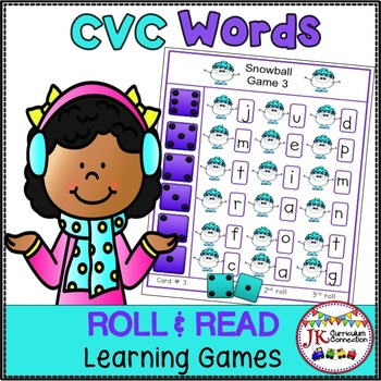 C-V-C Word Building Game – Snowballs!