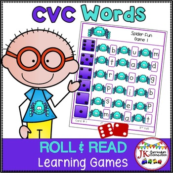 C-V-C Word Building Game – Spider Fun!