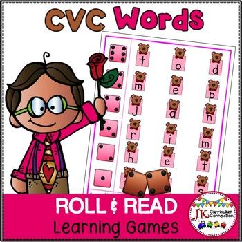 C-V-C Word Building Game - Valentine Theme