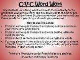 CVC ( C-V-C ) Word Work