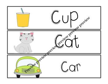 C Vocabulary cards