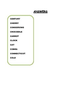 C Words Worksheet