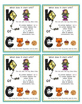 C and K Spelling Practice Activities with Digital Boom Task Cards