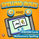 C and K Spelling Rule Digital Boom Task Cards