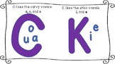 C and K vowel rule anchor chart