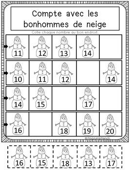 C'est L'hiver // French Winter Math