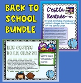 C'est La Rentree French Back to School Vocabulary and Acti