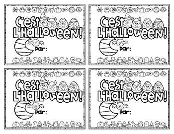 C'est l'Halloween! French Emergent Reader