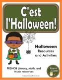 C'est l'Halloween - French Halloween activities (Math, Literacy, Music)
