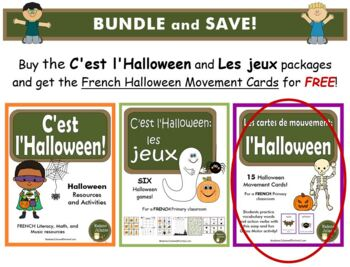 C'est l'Halloween et Les jeux d'Halloween - BUNDLE (French: Halloween and Games)