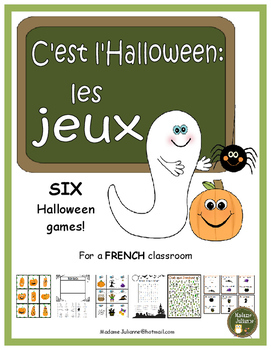 C'est l'Halloween (les jeux) - French Halloween games (6 different games)