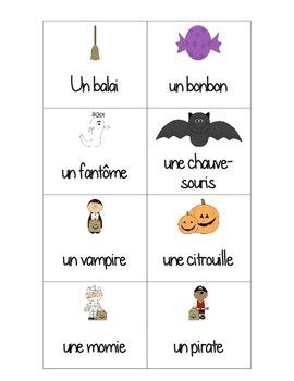 C'est l'Halloween - vocabulaire - Pige dans le lac