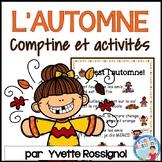Comptine et activités de lecture et écriture pour L'automne    French Fall