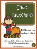C'est l'automne - French Fall activities and resources