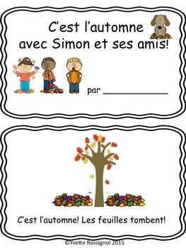 C'est l'automne (Petit livre, mots fréquents, lecture premier cycle, immersion)