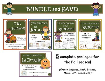 C'est l'automne - SUPER Bundle (French Fall activities, Math, Science, DPA...)