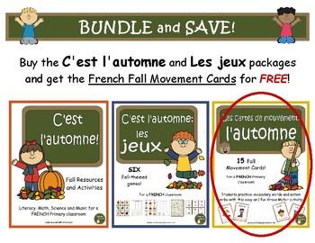 C'est l'automne et Les jeux d'automne - BUNDLE (French: Fall activities & Games)