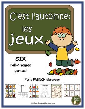 C'est l'automne (les jeux) - French Fall themed games (6 different games)