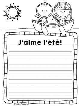 C'est l'été! (Comptine et activités sur le thème de l'été) French Summer