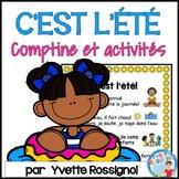 Comptine et activités de lecture et écriture pour l'été |  French summer