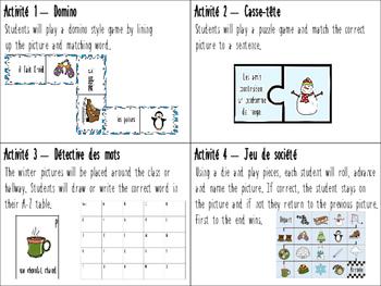 C'est l'hiver! 4 jeux de mots - Winter language games