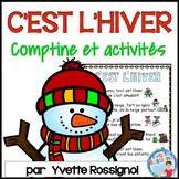 Comptine et activités pour l'hiver | French winter activities