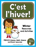 C'est l'hiver - French Winter activities and resources