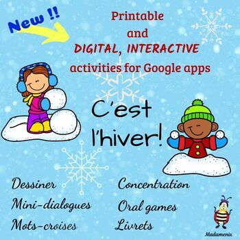 C'est l'hiver with activities for Google apps