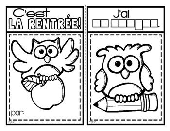 C'est la rentrée! French Emergent Reader