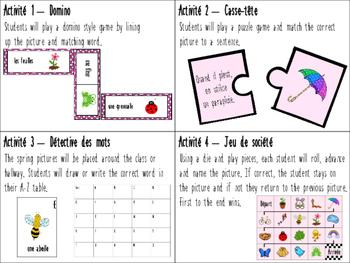 C'est le printemps! 4 jeux de mots - Spring language games