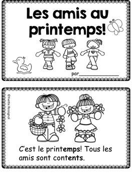 """French Spring  """"Le printemps!"""" (Comptines et activités)"""