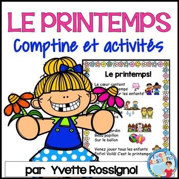 Comptine et activités de lecture et écriture pour le printemps     French Spring