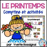 Comptine et activités pour le printemps | French Spring Poem and Activities