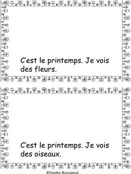 C'est le printemps! Petit livre, French emergent reader