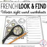French Winter Sight Words Reading & Writing Practice - les