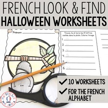 C'est moi l'espion! L'Halloween (Halloween I Spy - French Alphabet Practice)